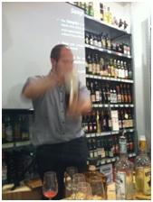 Nick Making Cocktails