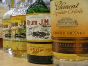 Rhum JM and Clement Bottles