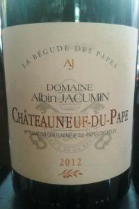Domaine Albin Jacumin Chateauneuf-du-Pape White 2012