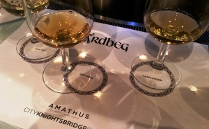 Ardbeg tasting at Amathus Knightsbridge