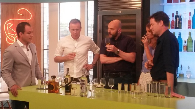 Eduardo Gomez tasting tequila with Tim Lovejoy, Simon Rimmer, Millie Mackintosh and Nick Clegg on Sunday Brunch