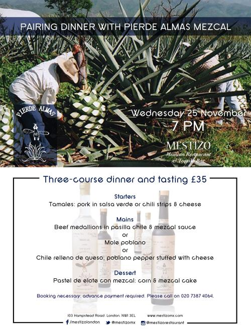 Mezcal Dinner Nov 15