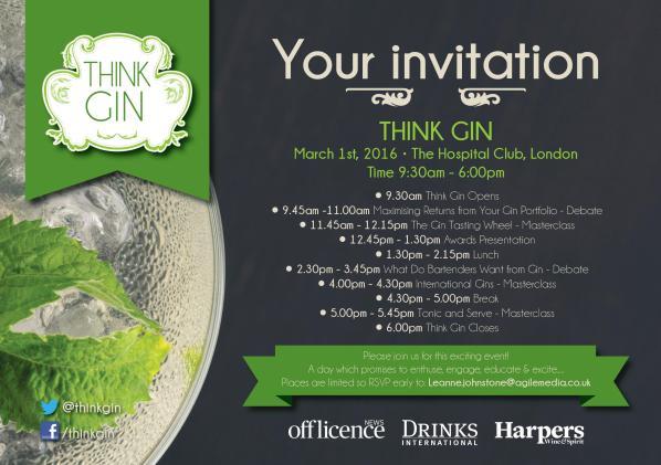 Think Gin Invite